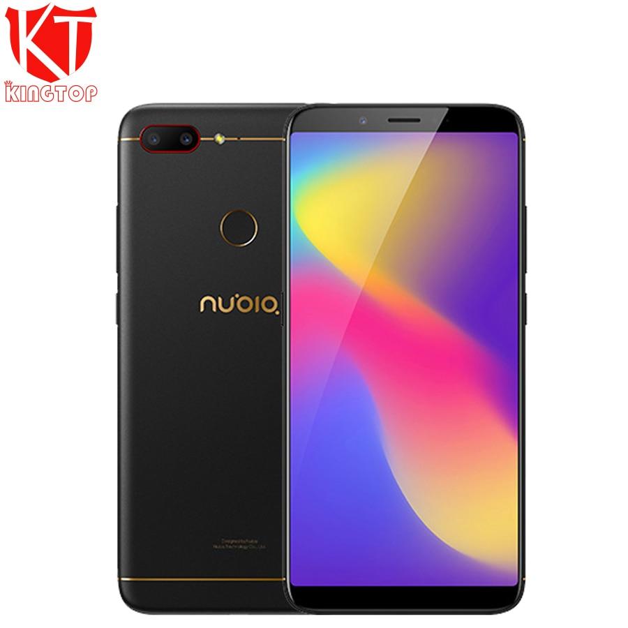 D'origine ZTE Nubia N3 téléphone portable 6.01 pouces 2160x1080 FHD Octa Core 4G RAM 64G ROM 5000 mAh Double caméra arrière Android téléphone portable