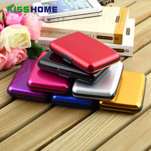 Waterproof Aluminum Metal Wallet Business ID Credit Card Case Holder Anti RFID Scanning Card Holders Box for Men and Women waterproof business id credit card holder wallet pocket case aluminum metal shiny side anti rfid scan cover 2016 fashion