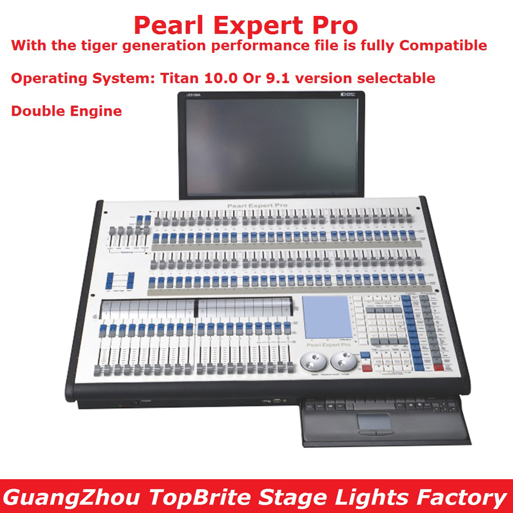 Pearl Expert Pro Stage Lighting Controller Titan 10.0 Or 9.1 System Titan Console Double Engine 4096 DMX Channel Flightcase Pack remington ci9532 e51 curl pearl pro