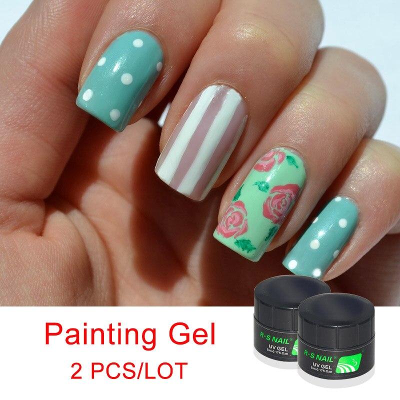 RS Professional Gel Nails Art UV LED Gel Neon Paint Colors Nail ...