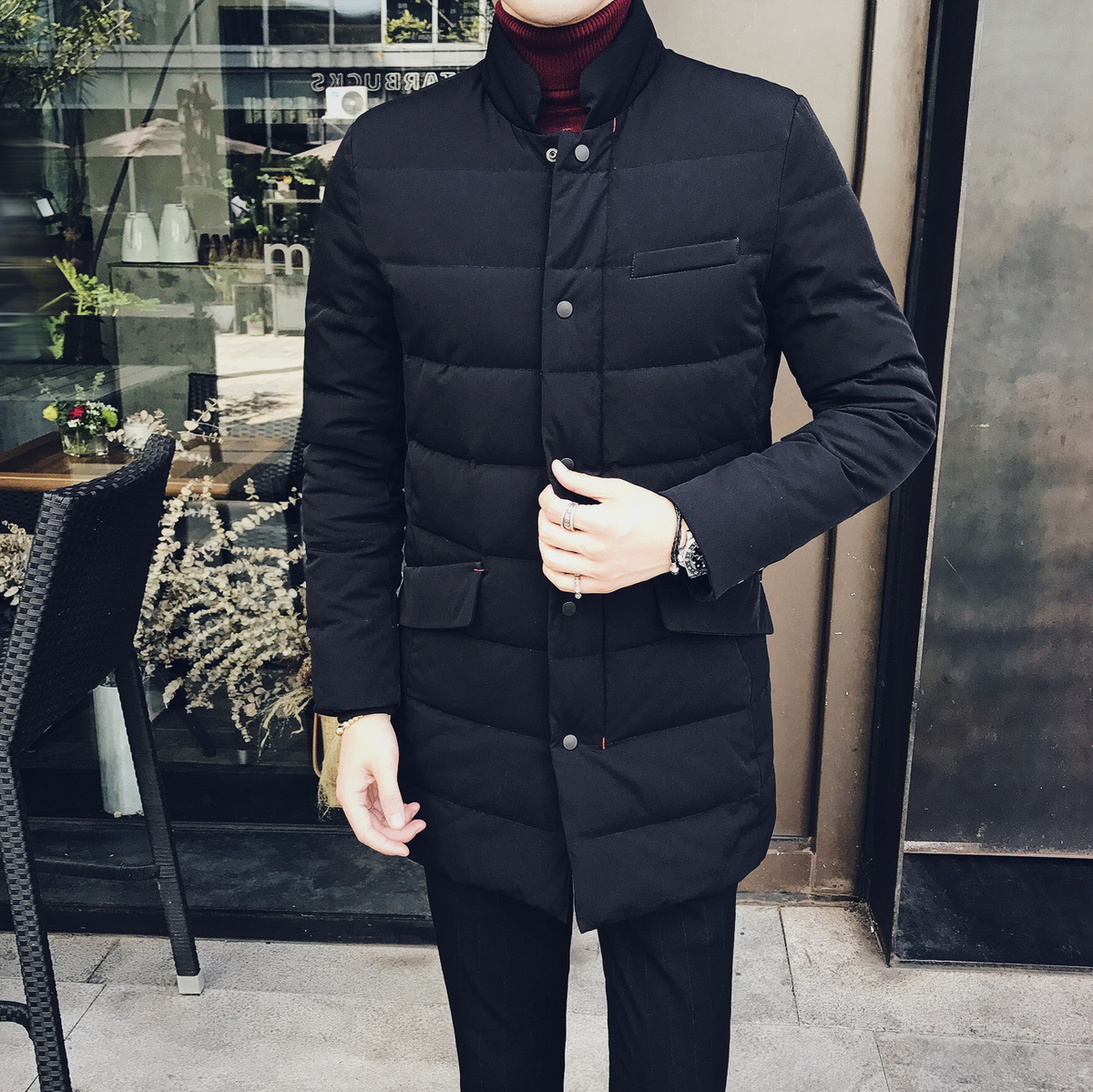 New 2017 England Warm Self-cultivation Casaco Masculino Long Down Men's Snow Jackets Filler White Duck Feather Male Winter Coats купить