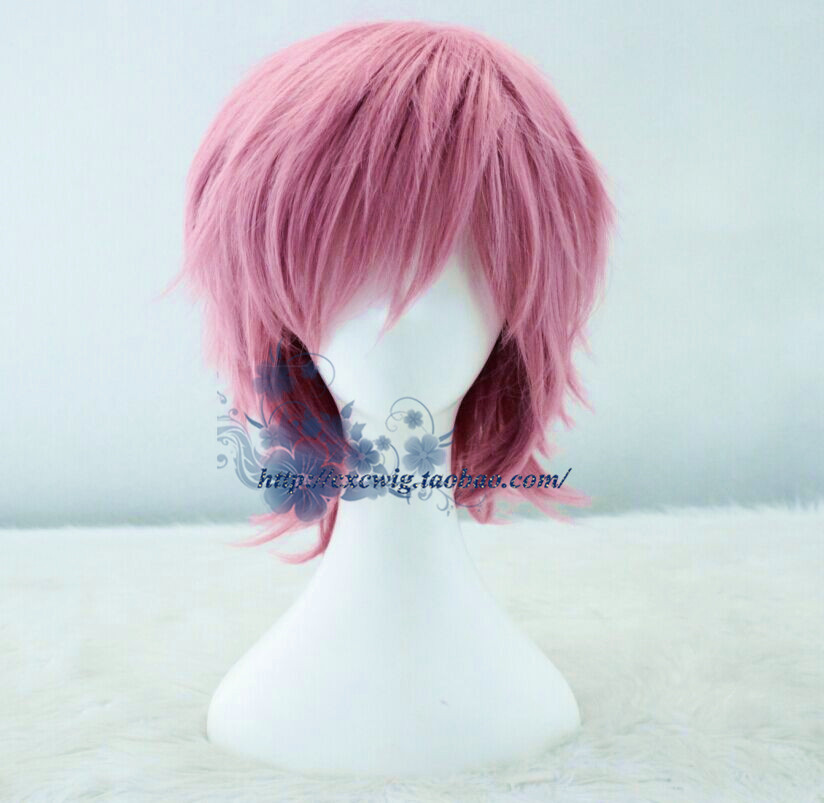 Adventure Time Prince Gumball Cosplay Wig Mens Prince Bubblegum Pink Short Hair Wig Costumes Selling Well All Over The World