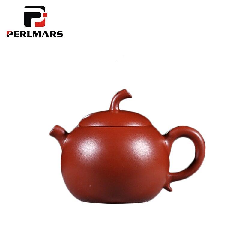 220 мл Исин фиолетовый чайник глины природные Dahongpao Apple горшок Zisha чайник бытовой Drinkware украшения Украшение собирать