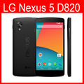100% original google lg nexus 5 d820 teléfono móvil 3g 4g GPS Wifi NFC Quad Core 2 GB RAM 16 GB Abrió El Teléfono Reacondicionado