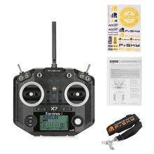 FrSky ACCST Taranis Q X7 QX7 2.4GHz 16CH LCD Screen Smart Port Transmitter Radio Control Without Receiver For RC Multicopter high quality black white frsky accst taranis q x7 transmitter spare part protective remote control cover shell for rc models