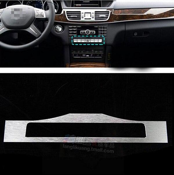 Aluminum Car Center Console Button Cover Trim Sticker For Mercedes Benz W212 E-Class E180 E200 E260 E300 AMG 2008-2015 Accessory amg mercedes c class dtm 2008 с двигателем г киев