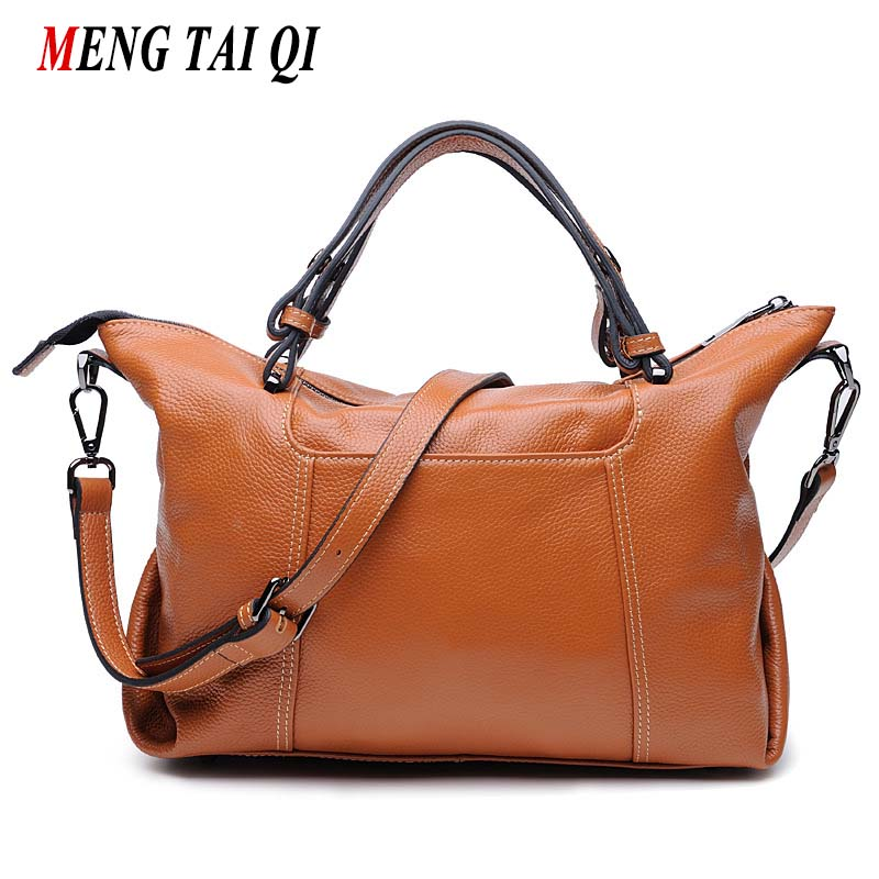 Genuine Leather Bag Women Leather Handbags Famous Brand Soft Solid Large Capacity Pillow Woman Shoulder Messenger Bags Vintage 4 top handle bags women handbags 100% genuine leather pillow bag large capacity travel fashion ladies shoulder bag famous brand