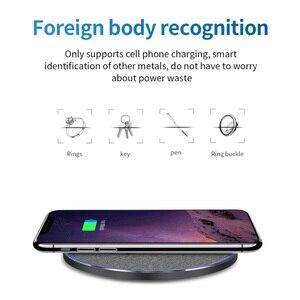Image 2 - 15W Veloce Qi Caricatore Senza Fili Per Xiaomi 9 Huawei P30 Pro Rapido 10W Pad di Ricarica Per Samsung S9 s10 iPhone X XS MAX XR 8 Più