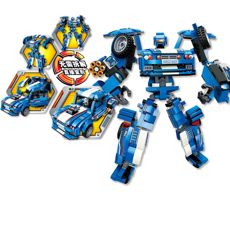 823pc Children's building blocks toy Compatible Legoingly city Explosive Ranger Hurricane Roadmaster Deformation Robot boy gifts-in Blocks from Toys & Hobbies    1