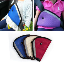 red blue beige cotton mix Polyester Triangle Car Safety Belt covers Adjustment baby Shoulder car safety seat cover Protector