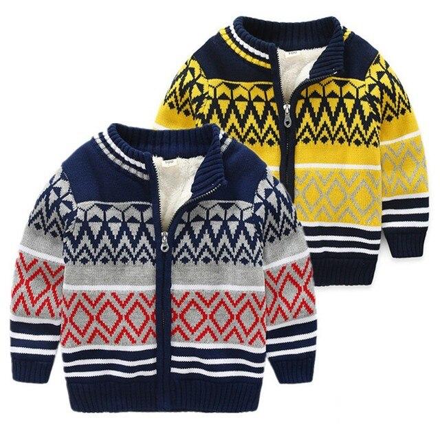8006d4067 Boys Cardigan Winter Autumn New Baby Kids Christmas Sweater Children ...