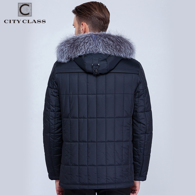 City Class Men's Winter Thinsulate Coats Silver fox Hooded Jackets Thick Warm Fashion Casual Stand Collar Removable Hat 14342-in Parkas from Men's Clothing    3