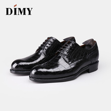 DIMY 2019 Goodyear custom hand-painted crocodile leather mens dress derby shoes business British wind