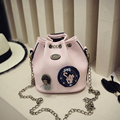 New Arrivaltrend Chain Bucket bags Fashion Badge High Quality Shoulder Mini Personality Crossbody Women Bags  #W-64