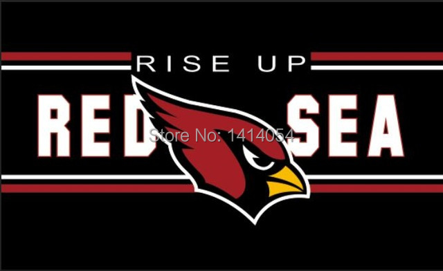 Arizona Cardinals RED SEA Flag 3X5FT NFL Banner 100D Polyester grommets custom .free shipping
