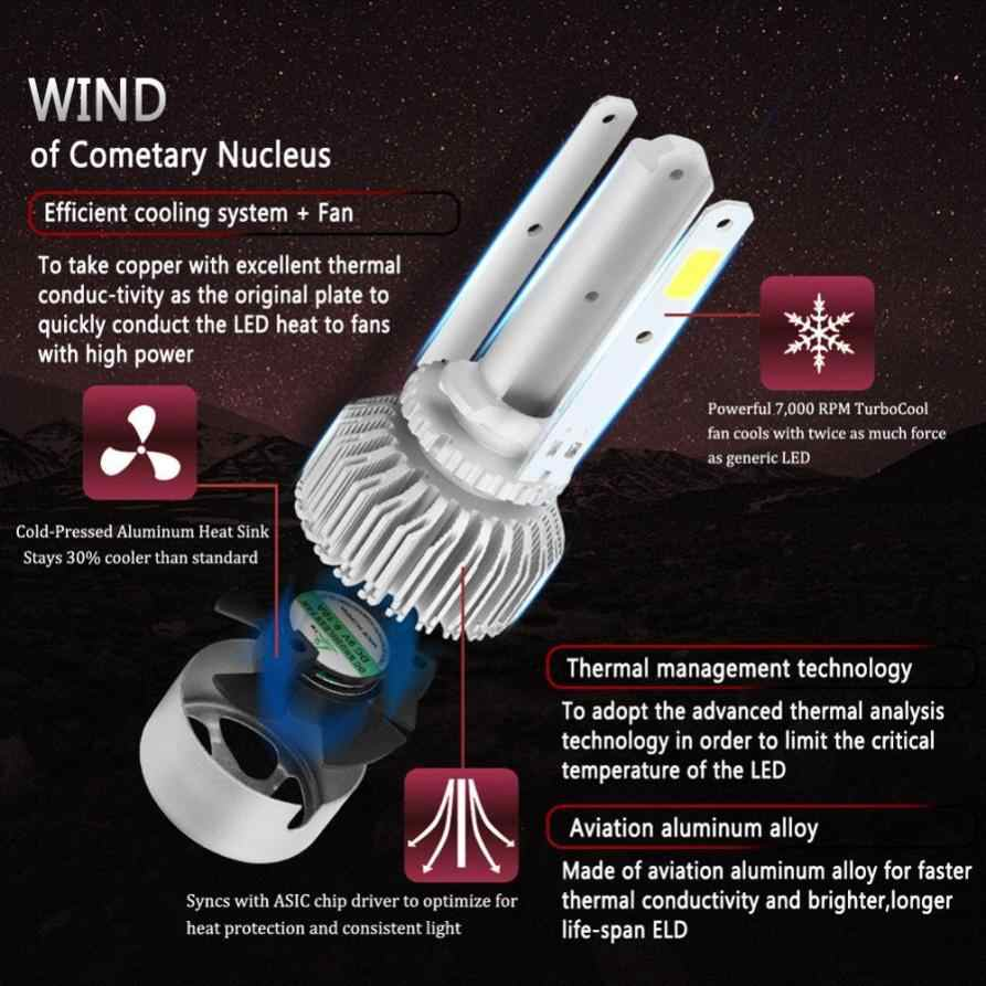 72W H13 COB LED 16000LM Auto Car Headlights Kit Driving Bulbs Lamps 6000K Advanced heat dissipation  Long working life #7