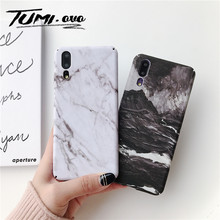 Marble Hard PC Back Phone Cover For Huawei P20 Lite P20 Pro Mate 20 Honor 10 Full Protect For Huawei P Smart 2019 Matte Cartoon(China)