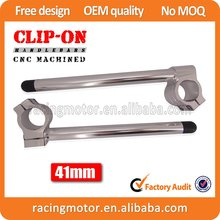 Motorcycle  New 7/8″Silver  41mm Clipons Clip-On Handlebars For Honda Shadow VT750/VT1100/C/C3/T