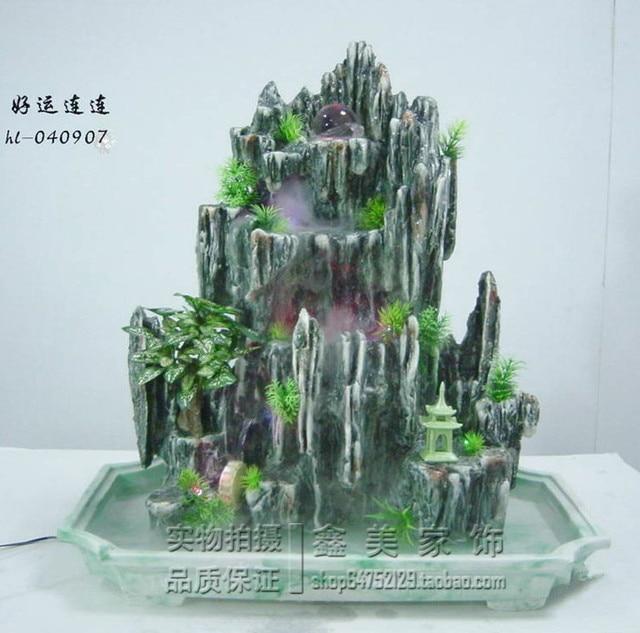 Résine rocaille jardin fontaine d\'eau haut de gamme décoration ...
