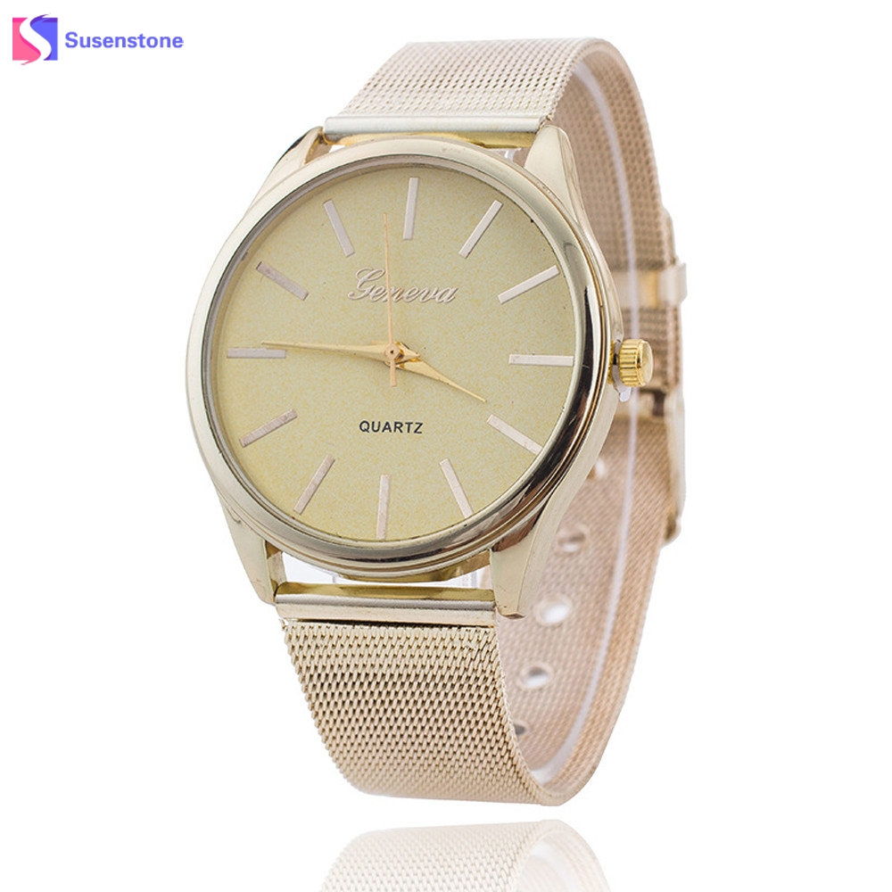 New Women Ladies Stainless Steel Band Gold Watch 2017 Fashion Luxury Analog Quartz Bracelet Watches Montre Femme Reloj deepshell full crystal diamond women stainless steel bracelet quartz gold watch female ladies dress wrist watches montre femme