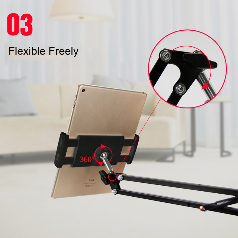Long Arm Lazy Holder Flexible Desktop Phone Stand Mount Bracket for 4-12.9 inches Phone TabletLong Arm Lazy Holder Flexible Desktop Phone Stand Mount Bracket for 4-12.9 inches Phone Tablet
