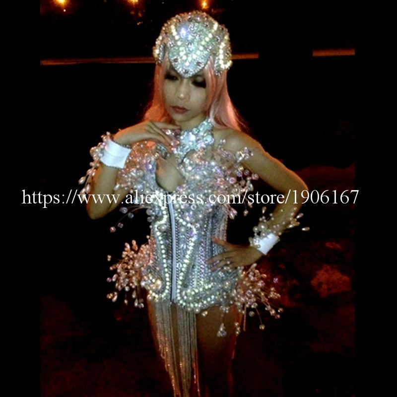 LED leuchtende Licht emittierende sexy Frauen Anzug Kleidung mit - Partyartikel und Dekoration - Foto 6