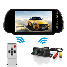 Wireless Rearview Kit 7-Inch LCD Mirror Monitor + Infrared Reversing Camera Car Refitting Accessories For Car Bus Van