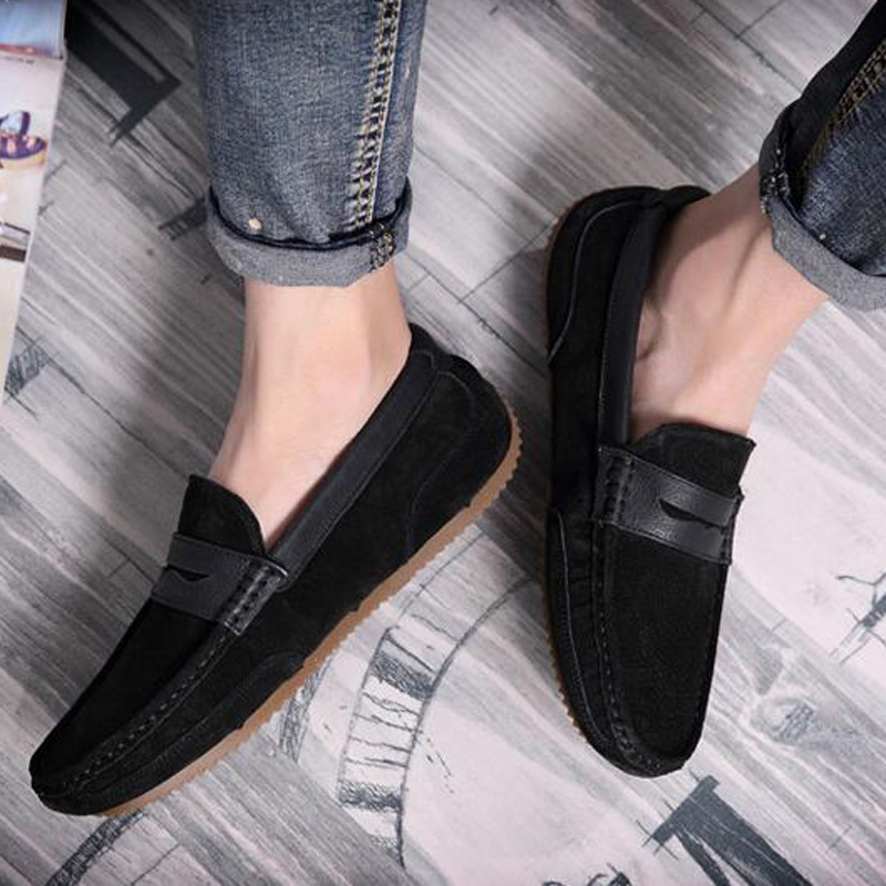 Tangnest Brand Men Suede Leather Loafers New 2017 British Style Men's Flats Man Comfortable Driving Shoes Man Moccasins XMR2522 4