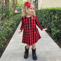 2017 NEW Kids Baby Girls Dress Casual Manga Larga Tutu Vestidos de Princesa Dress