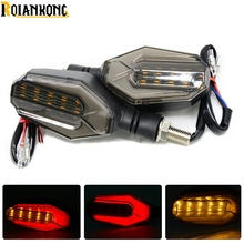 2016 NEW 1 Pair Amber Light Universal 12 LED Motorcycle Turn Signal Indicators Lights/lamp