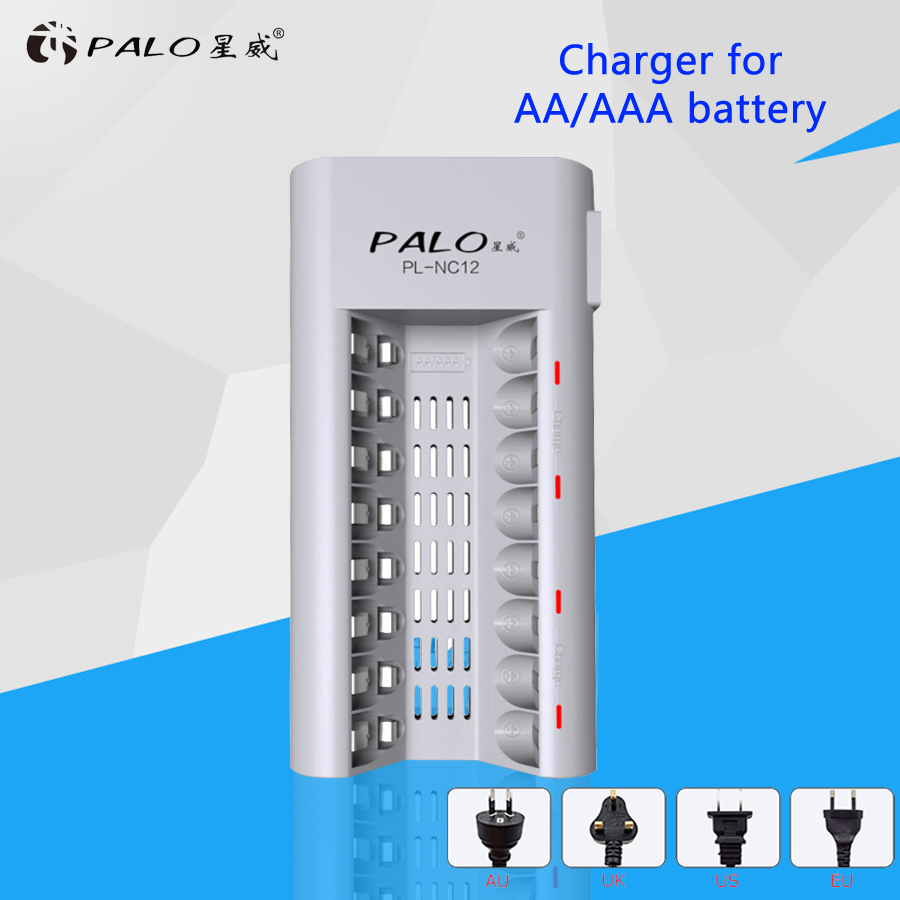 Original Palo C808W 8 Slots Indicator Light Smart Charger For AA / AAA Ni-MH / Ni-Cd Batteries Rechargeable Battery Charger orient часы orient qcbj003w коллекция basic quartz