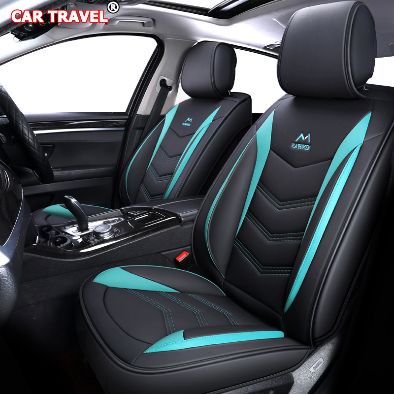 Luxury Leather Car Seat Covers For Volkswagen Gol Vw Polo Passat Golf Caddy Lupo Tiguan Sharan Phaeton Automobiles Seat Covers