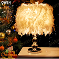 New Pendant Lighting cozy bedroom bedside lamp table lamp creative romantic wedding crystal feather crystal lamps