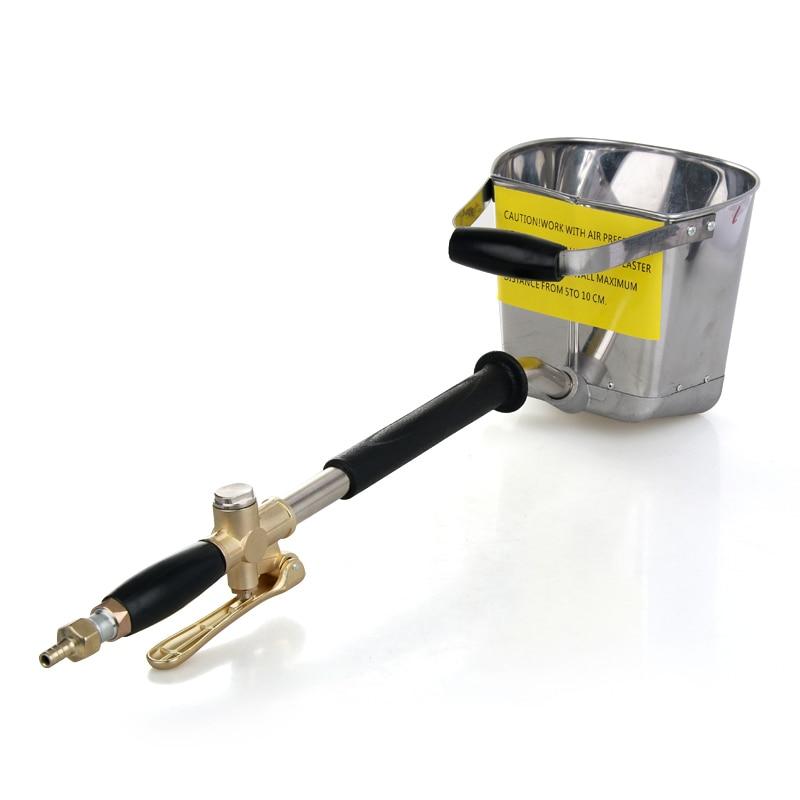 4 5L Automatic Wall Sprayer Gun For Cement/Plaster/Mortar/Stucco , Waterproof/Fireproof Air Spray Gun , Shovel Hopper Ladle Pump