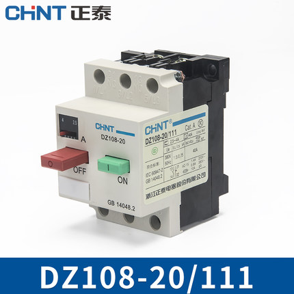 CHINT Electric AC Motor Starter Circuit Breaker  DZ108-20 1.6-2.5A 3VE1