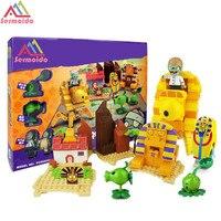 Planten Vs Zombies Tuin Doolhof Geslagen Game Bouwstenen Bakstenen Zoals Figures Minecraft Speelgoed Voor Kinderen Gift B11