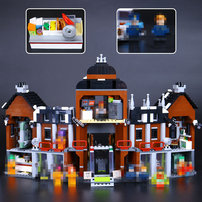 New Lepin 07055 Genuine Batman Movie Series THe Arkham`s Lunatic Asylum Set Building Blocks Bricks Toys 70912 Educational Toy new lp2k series contactor lp2k06015 lp2k06015md lp2 k06015md 220v dc