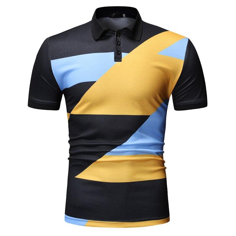 YASUGUOJI New 2019 Summer Short Sleeve   Polo   Shirt Men Fashion Contrast Color   Polo   Shirts Casual Men   Polos   Para Hombre