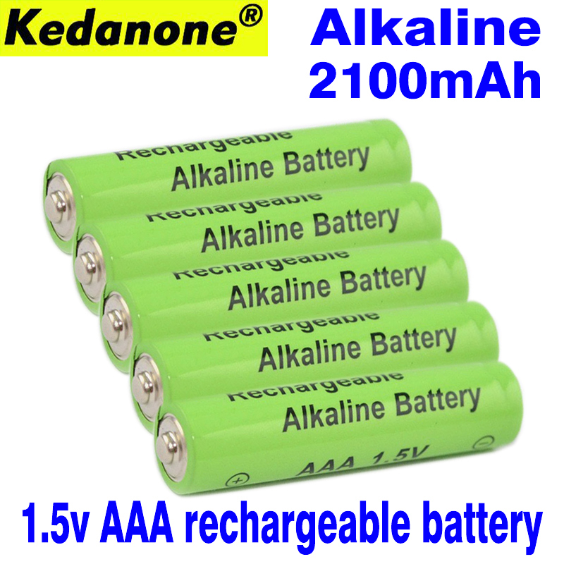 Kedanone New Brand AAA Battery 2100mah 1.5V Alkaline AAA Rechargeable Battery For Remote Control Toy Light Batery Free Shipping