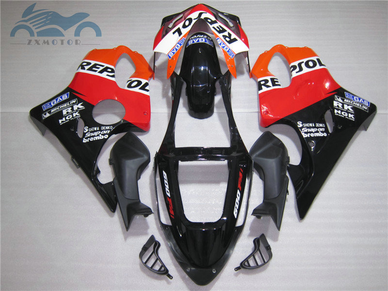 Free Customized Injection mold for 2001 2002 2003 <font><b>CBR600F4i</b></font> orange repsol fairings 01 02 03 CBR600 F4i body repair fairing <font><b>parts</b></font> image