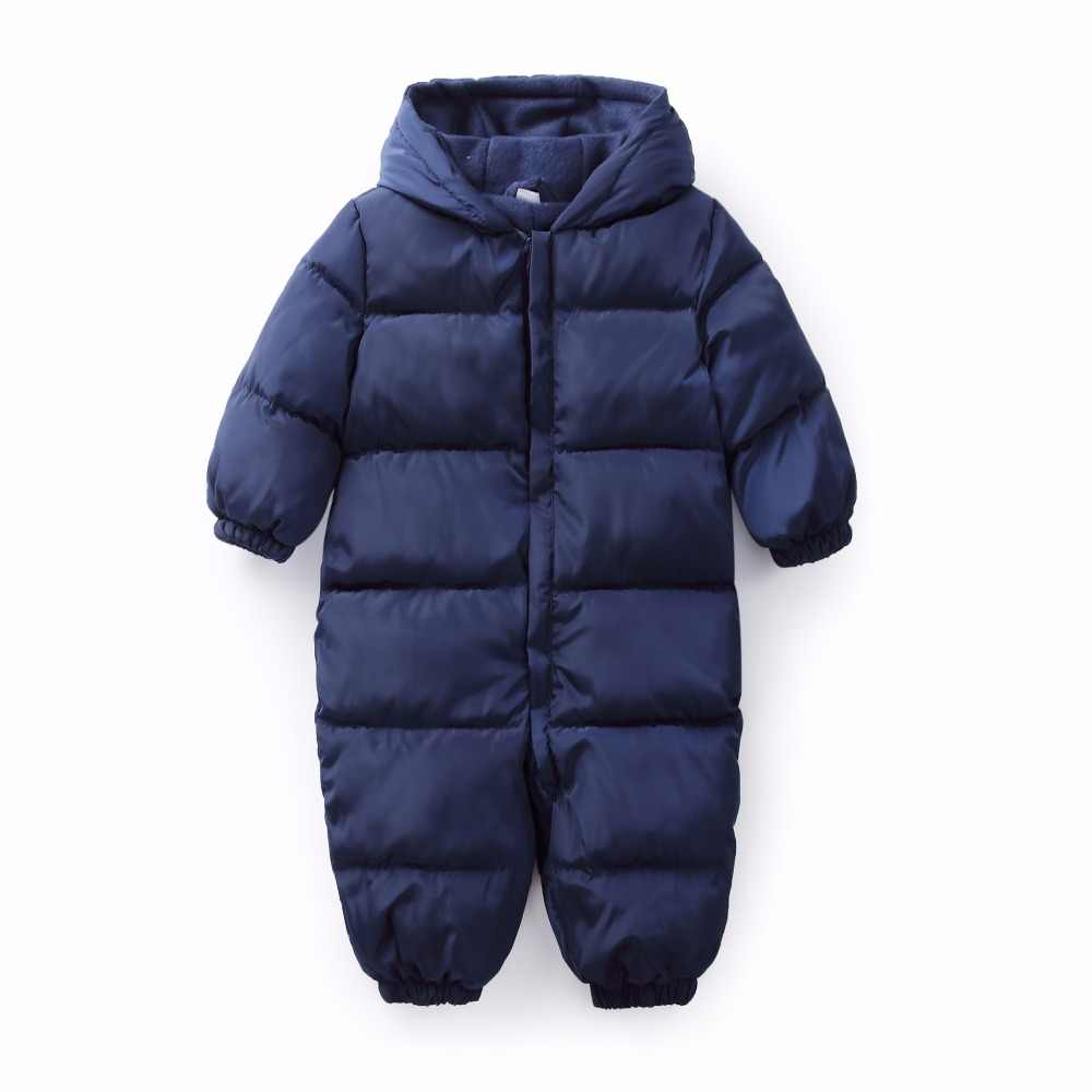 b37525cfd3c6 ... Snowsuit Baby Snow Wear Cotton Warm Outerwear Coat Childrens Overalls  Romper Kids Baby Boys Girls Winter ...