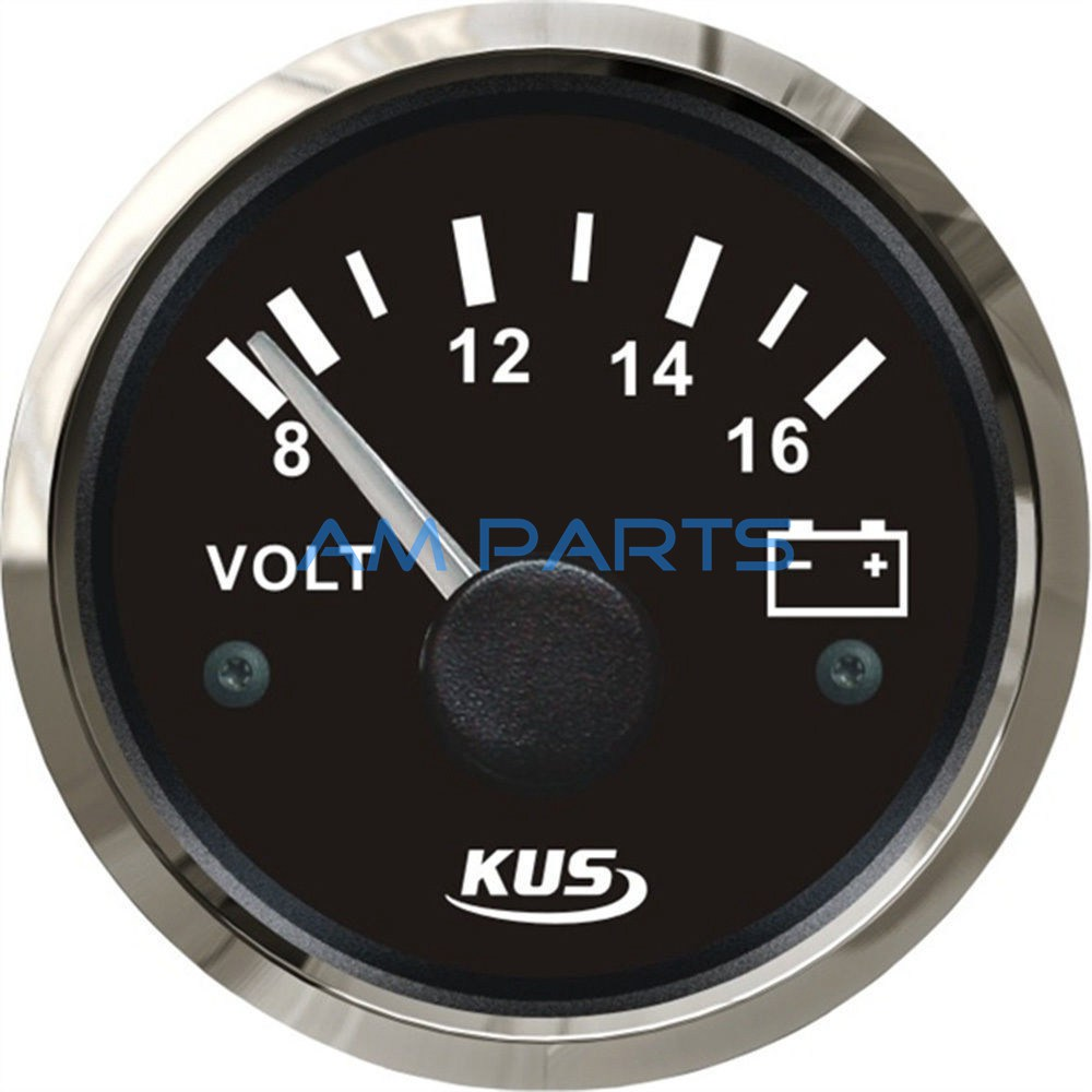 Rv Battery Voltage Gauge : Kus marine voltmeter gauge waterproof boat car truck rv