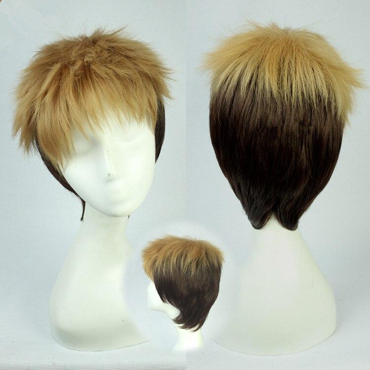 Anime Attack on Titan Mikasa Ackerman Courte Noire Cosplay Perruque Free wig cap