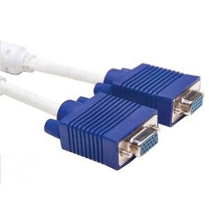 Image 3 - Larryjoe 高品質 1 コンピュータデュアル 2 モニターの Vga スプリッタケーブルビデオ Y スプリッタ 15 ピン 2 ポート VGA 男性に女性