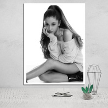 painting canvas ariana grande poster face camera instant print photo wall art giclee pop