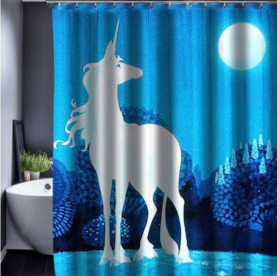 Hot Design Cat Cartoon Shower Curtain Bathroom Waterproof