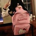 De alta Calidad de Corea Hello Kitty Rosa Bolso de Escuela Lindo de Gran Capacidad Hombro Mochila Para Niños Mochila de Regalo Precio Al Por Mayor
