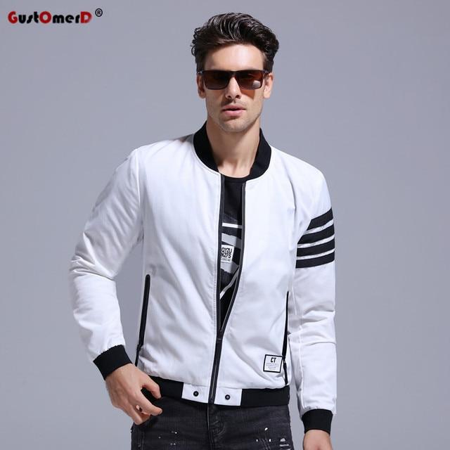 Gustomerd Brand 2017 New Fashion Style Patchwork Bomber Jacket Men