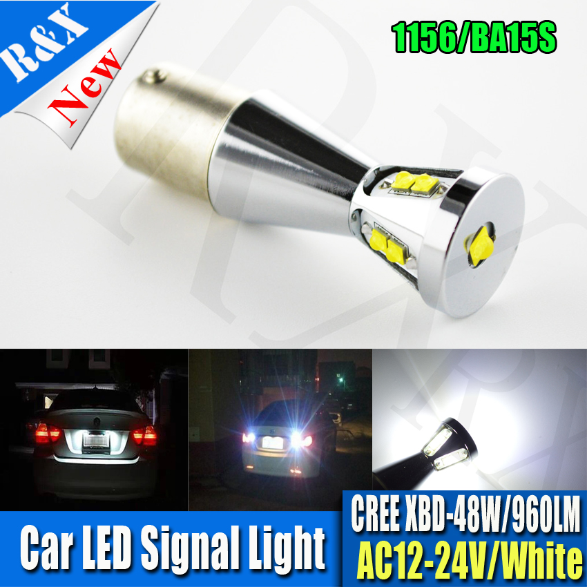 Pair 48W White 960lm XBD Chips Canbus Error Free P21W 1156 BA15s R10W 382 10W 1156 Xenon weib 6000K Car LED Bulb Reverse Light ruiandsion 2x75w 900lm 15smd xbd chips red error free 1156 ba15s p21w led backup revers light canbus 12 24vdc