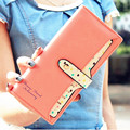 Hot New Fashion Fresh Women Wallet Design Candy Colors Heart-Shaped Printing Ladies Purse Hasp Clutch Coin Pocket Card Holder